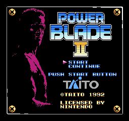 Power Blade II title screen