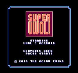 Super Uwol title screen