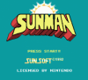 Sunman title screen