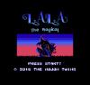 lala title screen