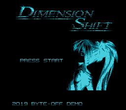 Dimension Shift title screen