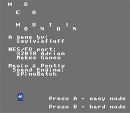 Mega-Mountain title screen