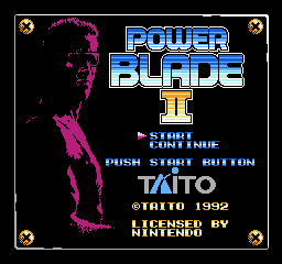 Power Blade II title screen