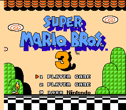 Super Mario Bros. 3 Title Screen