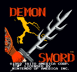 Demon Sword title screen