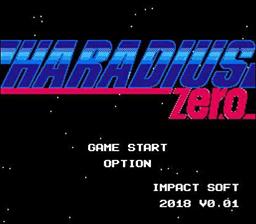 Haradius Zero title screen