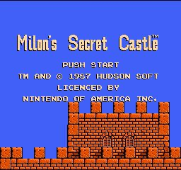 Milon's Secret Castle title screen