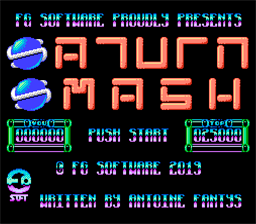 Saturn Smash title screen