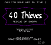 40 Thieves title screen