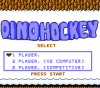 Dino Hockey title screen