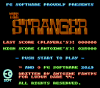 The Stranger title screen