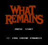 title screen What Remains