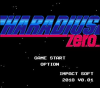 Haradius Zero title screen