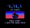 lala title screen