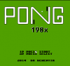 Pong 198x title screen